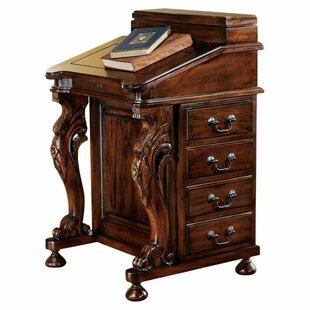 The Captain's Davenport Secretary/Roll Top Desk by Design Toscano