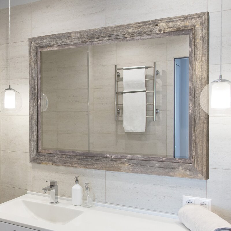 August Grove Coastal Beveled Accent Mirror