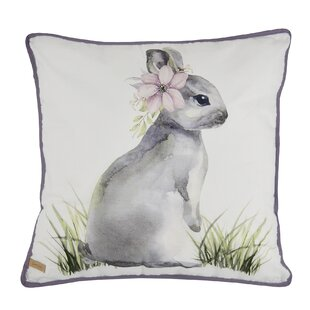 Jarrod Bunny Throw Pillow by August Grove 2019 Coupon