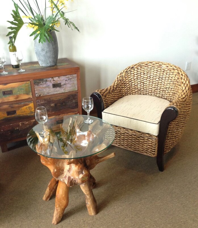 Teak Root End Table