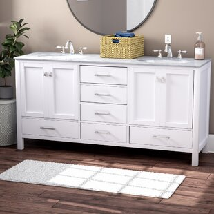 """Quickview. Darby Home Co. Bowlin 72"""" Double Sink Bathroom Vanity"""
