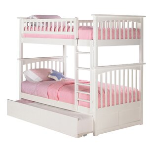 Abel Twin Over Twin Standard Bed with Trundle by Harriet Bee