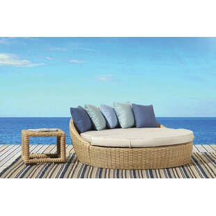 Leucadia Patio Daybed with Cushions and Table