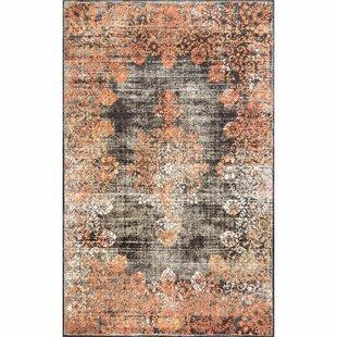 Titan Orange/Gray Area Rug by Mistana