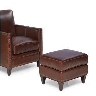 Loon Peak Eastgate Leather Ottoman