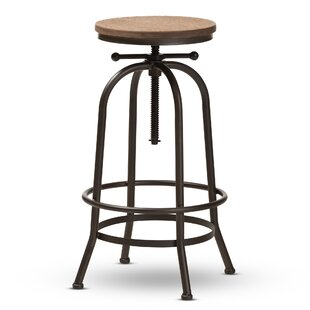 Merri Adjustable Height Swivel Bar Stool by Williston Forge