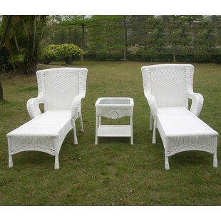 Fleur De Lis Living Yvette 3 Piece Chaise Lounge Set