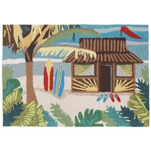 Cohee Tiki Hut Multi Indoor/Outdoor Area Rug