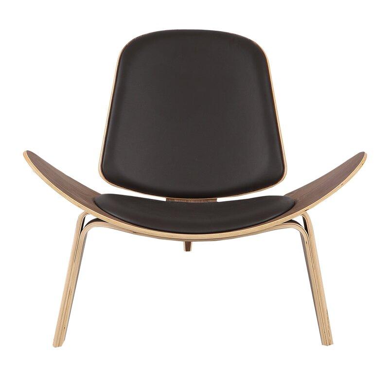 Longe Chair kardiel plywood modern lounge chair & reviews | wayfair