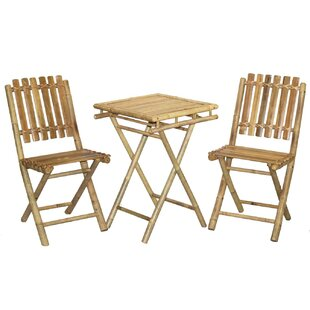 3 Piece Bistro Set by Bamboo54 Purchase