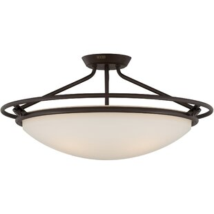 Red Barrel Studio Woolforlk 4-Light Semi Flush Mount
