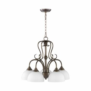 Quorum Powell 5-Light Shaded Chandelier