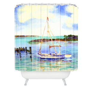 Summer Sail Single Shower Curtain