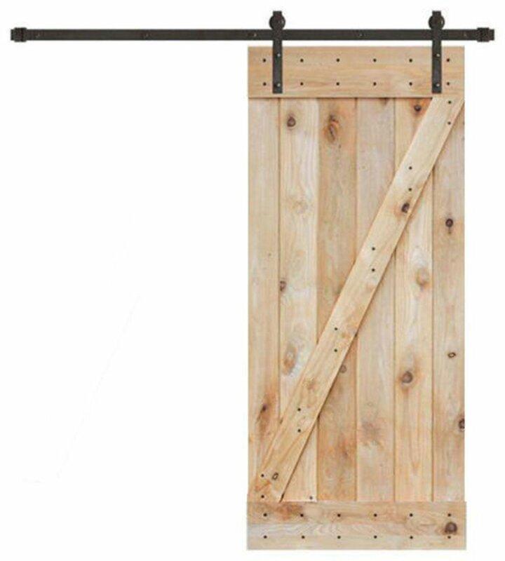 Wood Interior Barn Door  sc 1 st  Wayfair & Calhome Wood Interior Barn Door \u0026 Reviews | Wayfair