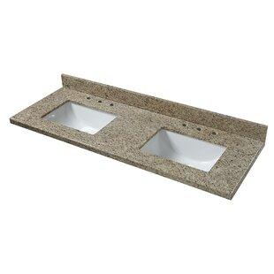 Granite 61 Double Bathroom Vanity Top By Cahaba