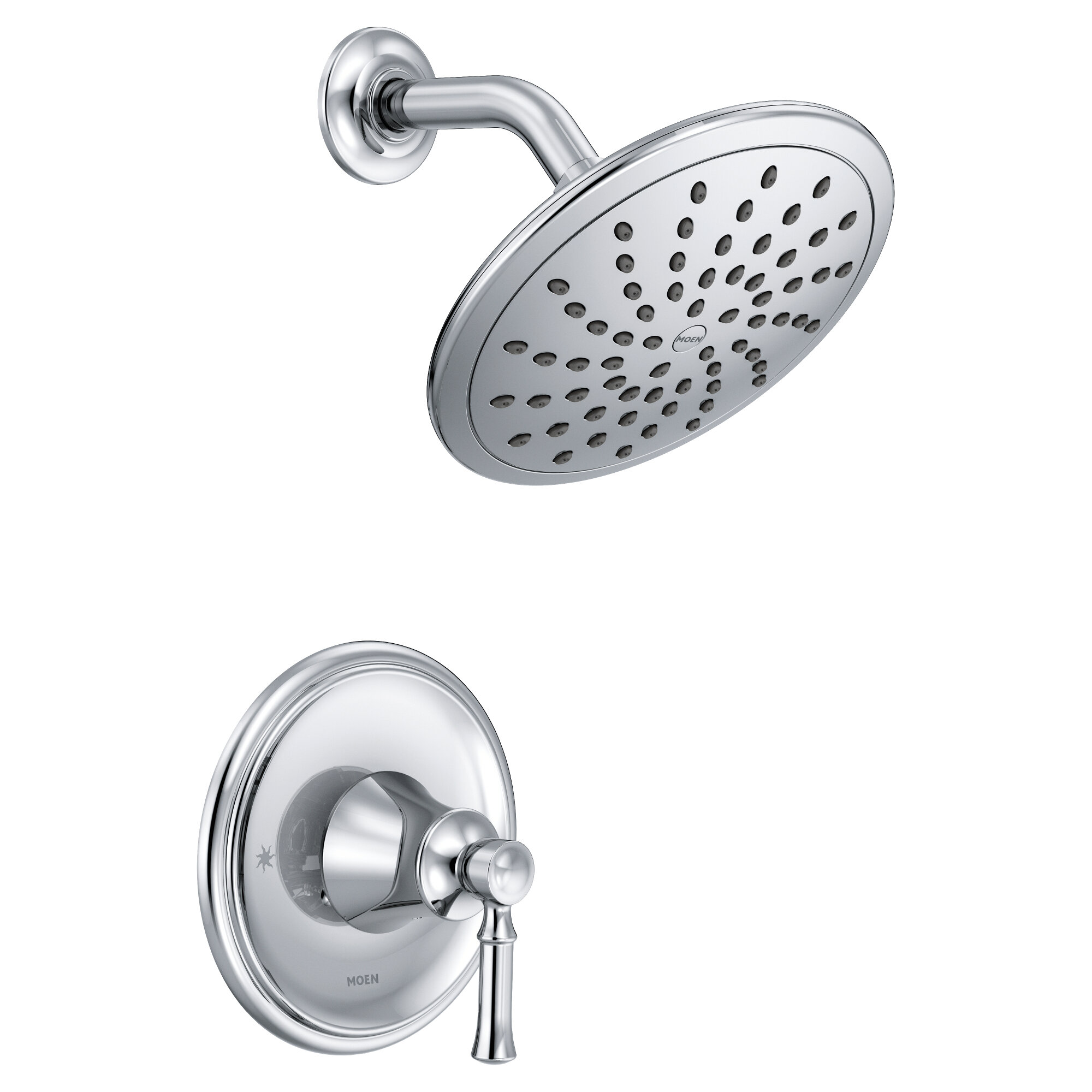Moen Dartmoor Pressure Balance Shower Faucet with Lever Handle ...