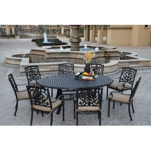 Astoria Grand Palazzo Sasso 9 Piece Dining Set with Cushions