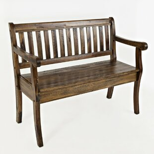 Kellogg Slat Pattern Wood Storage Bench by Rosecliff Heights