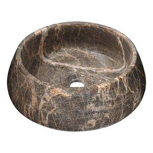 ANZZI Vestal Crown Stone Circular Vessel Bathroom Sink