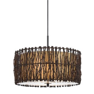 Beachcrest Home Meribah 2-Light Drum Chandelier