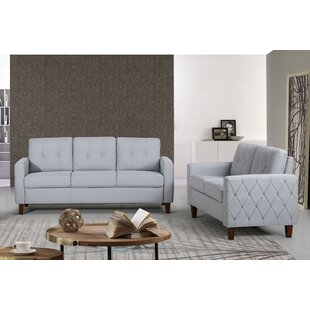 Dawn Tufted Mid-Century 2 Piece Living Room Set