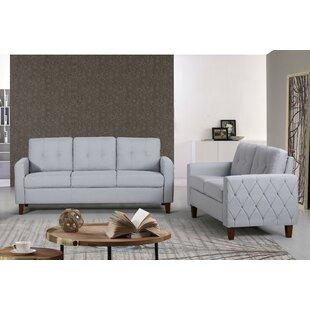 Harrad Tufted Mid-Century 2 Piece Living Room Set