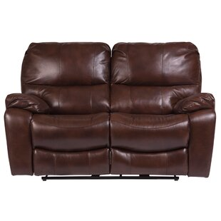 Gracehill Leather Reclining Loveseat Three Posts