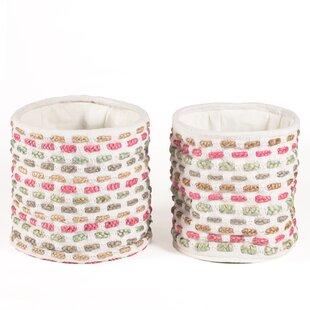 Inexpensive 2 Piece Fabric Basket Set ByBungalow Rose
