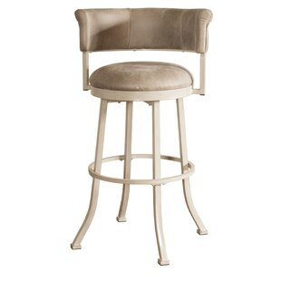 Alisia Low Back Swivel Bar Stool Red Barrel Studio