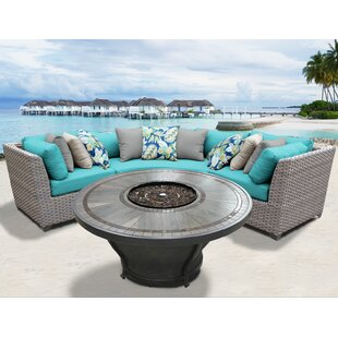 Florence 4 Piece Sectional Seating Group with Cushions