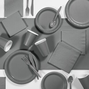 245 Piece Glamour Paper/Plastic Disposable Party Supplies Kit