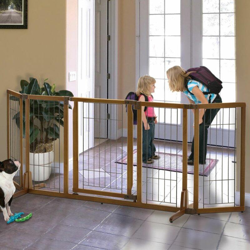Beau Richell Wide Premium Plus Freestanding Pet Gate With Door