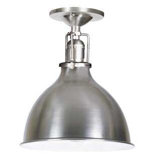 Shumway 1-Light Metal Semi-Flush Mount by Breakwater Bay