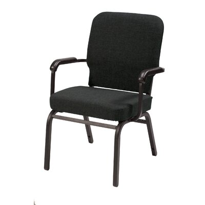 1040 Series Heavy Duty Stacking Chair with Cushion KFI Seating Seat Finish Black Fabric Arms With Arms