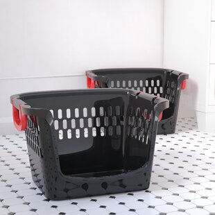 Reviews Large Stacking Open Plastic Storage Bin (Set of 2) By Symple Stuff