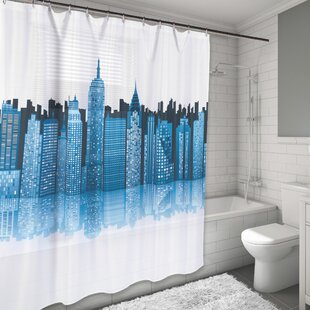Cityscape Shower Curtain ByEast Urban Home