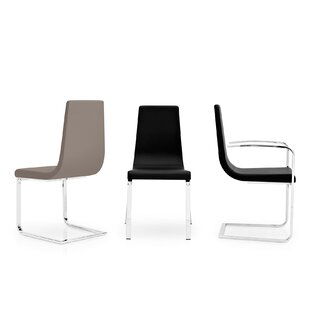 Cruiser Genuine Leather Upholstered Dining Chair by Calligaris