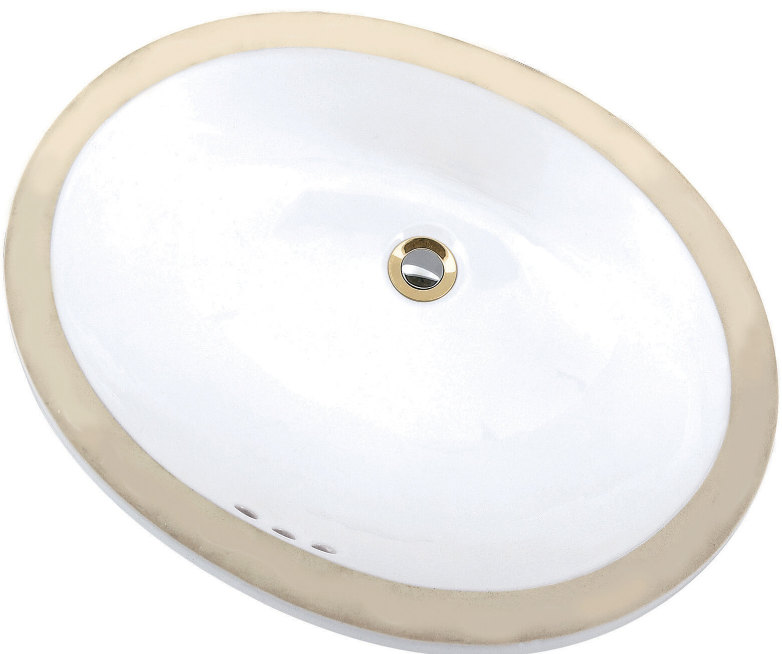 Mansfield Petite Maple Vitreous China Oval Undermount Bathroom Sink With Overflow Wayfair