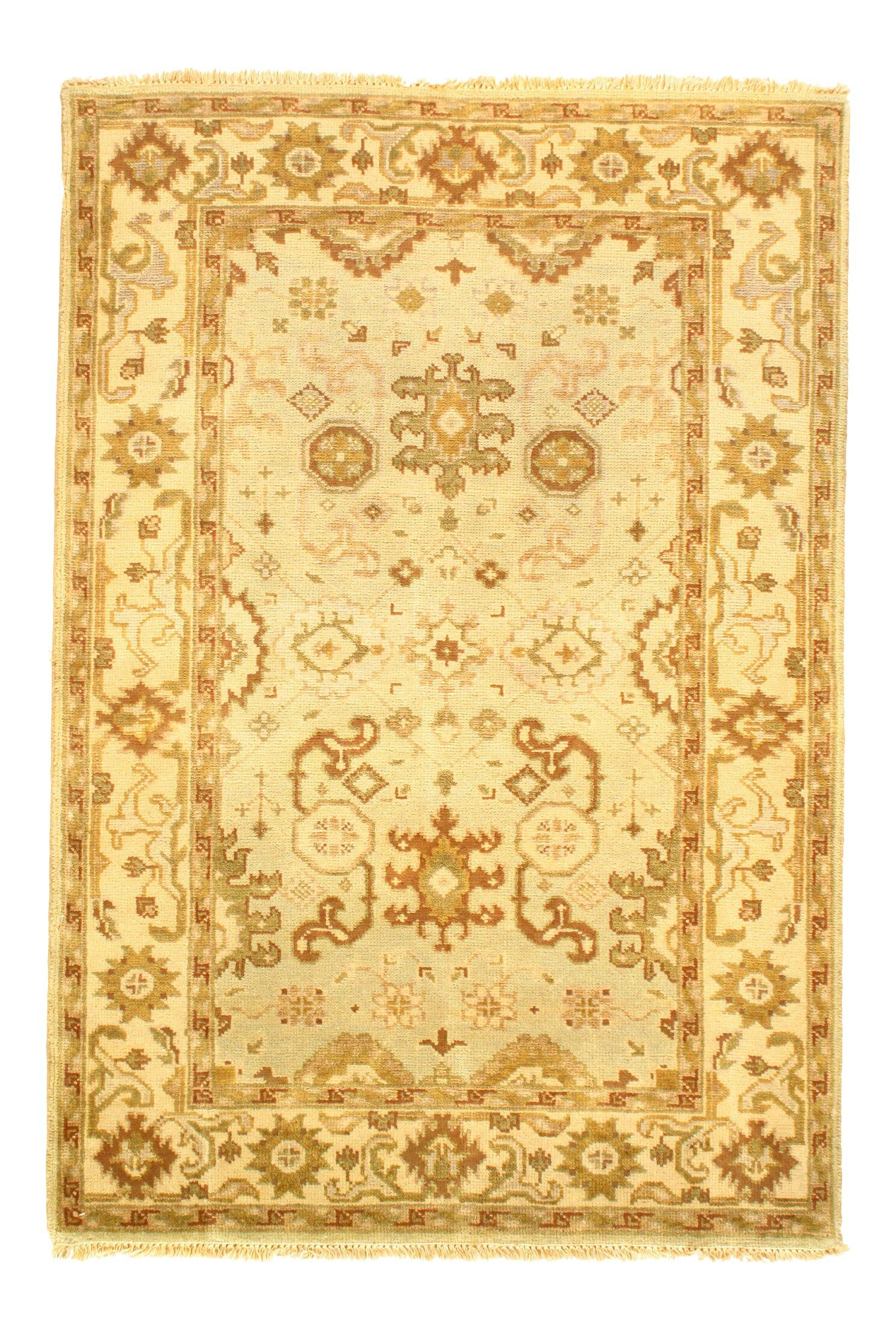 Bungalow Rose Colella Hand Knotted Wool Ivory Area Rug Wayfair
