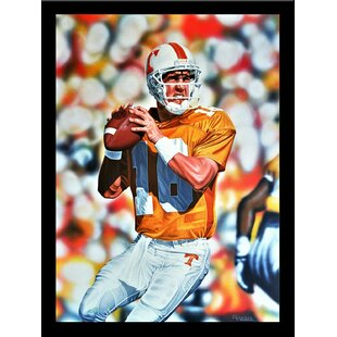 'Peyton Manning Tennessee Volunteers' Print Poster by Darryl Vlasak Framed Memorabilia by Buy Art For Less