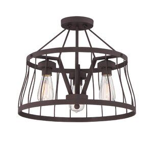 Greenside 3-Light Semi Flush Mount by Laurel Foundry Modern Farmhouse