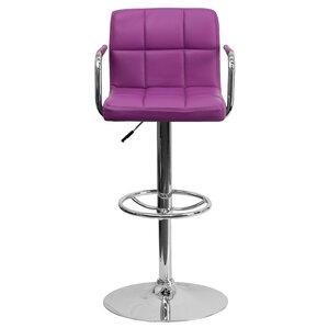 Faith Adjustable Height Swivel Bar Stool by Zipcode Design