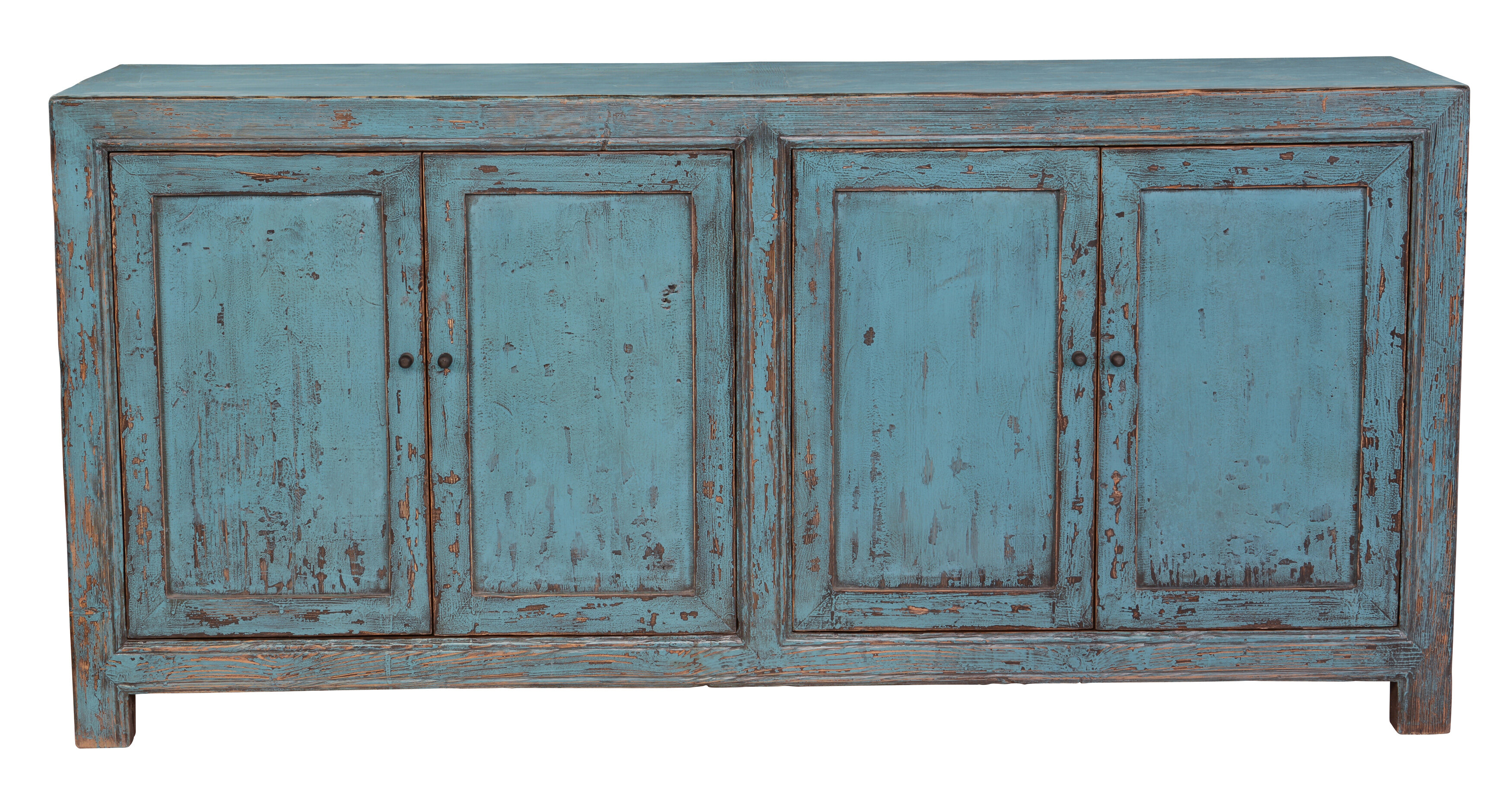 Tapscott Reclaimed Pine 4 Door Sideboard & Reviews | AllModern