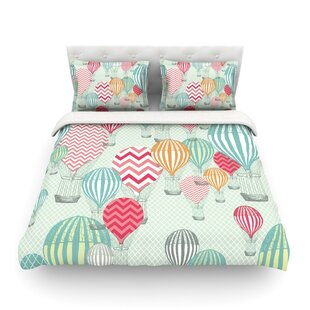 Hot Air Baloons by Heidi Jennings Featherweight Duvet Cover