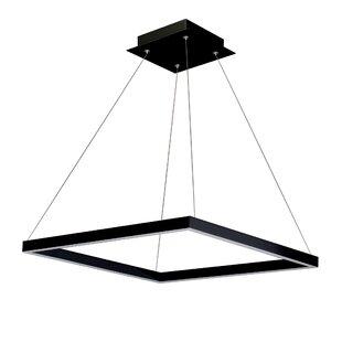 Order Armaz 1-Light LED Square Chandelier ByWade Logan