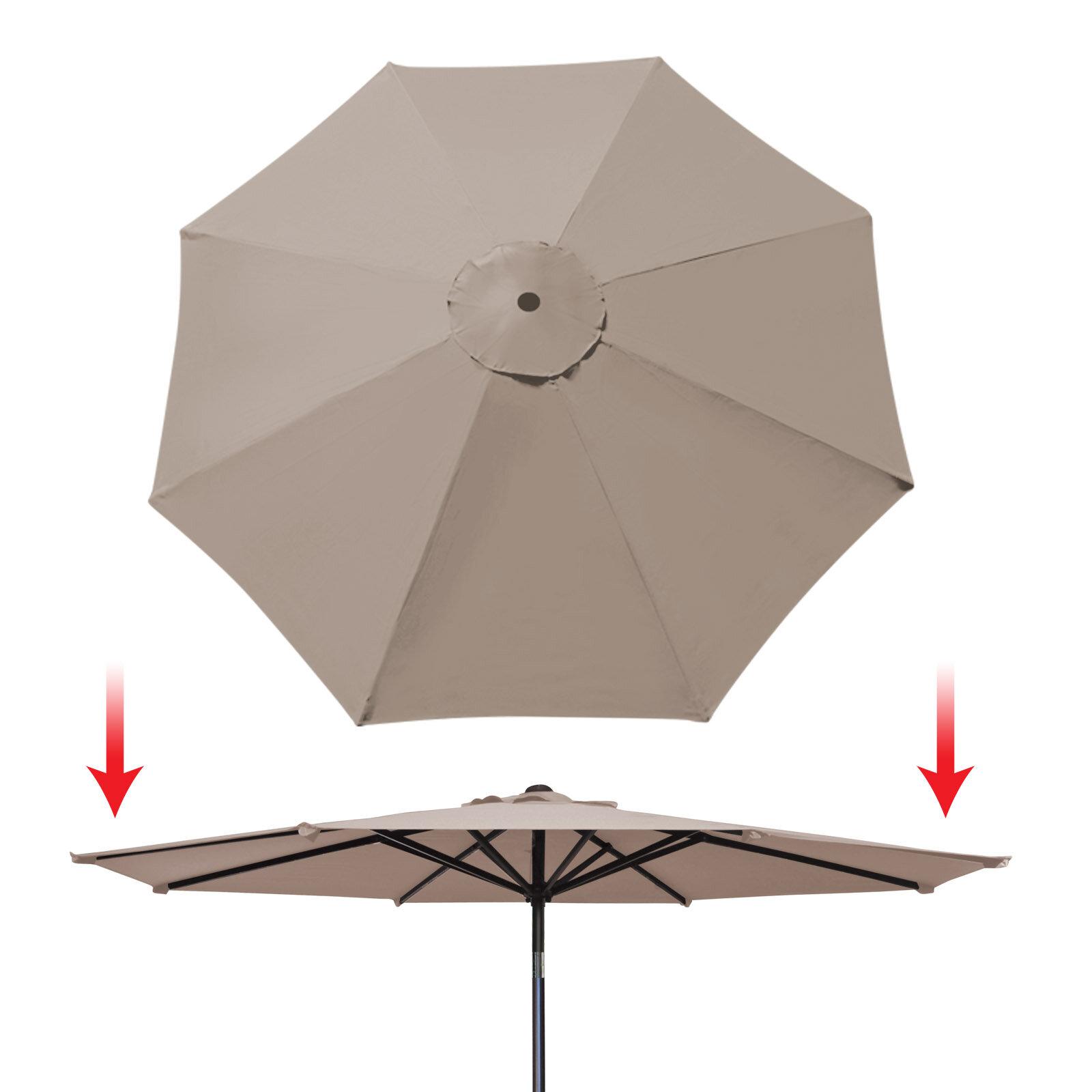 6 ribs patio market umbrella garden