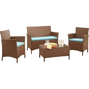 Neumann 4 Piece Sofa Set with Cushions by Zipcode Design