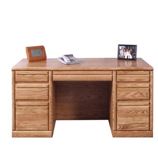 Jarrell Executive Desk with 3 Right & 3 Left Drawers