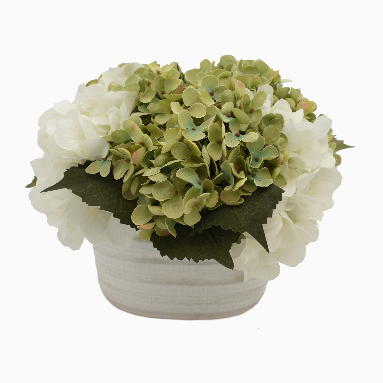 One Allium Way Hydrangea Floral Arrangement In Pot Wayfair
