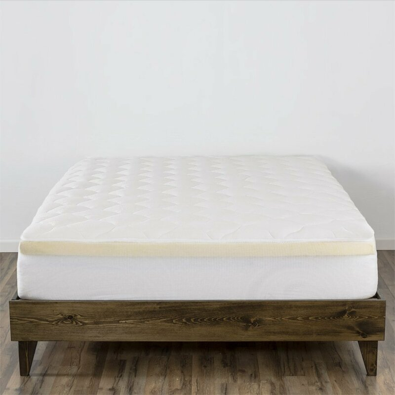 Double Thick Memory Foam And Down Alternative Mattress Pad